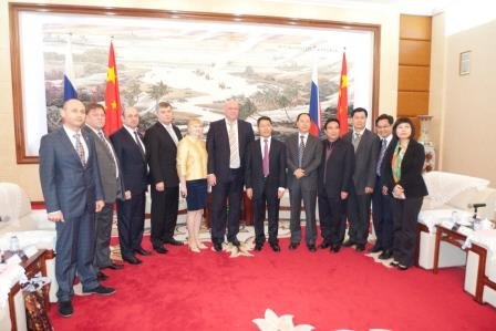 Официальный прием в Доме правительства г. Чжаньцзян