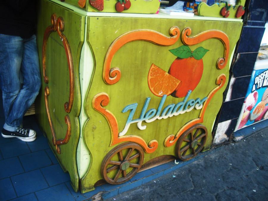 Aus dem Karren kauft man gerne Eis :)