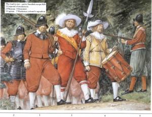 Шведские солдаты первой половины XVII века