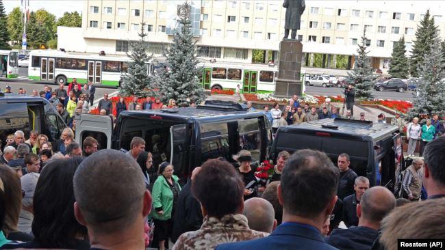 Саров, 12 августа, похороны инженеров Росатома, погибших при взрыве в Нёноксе
