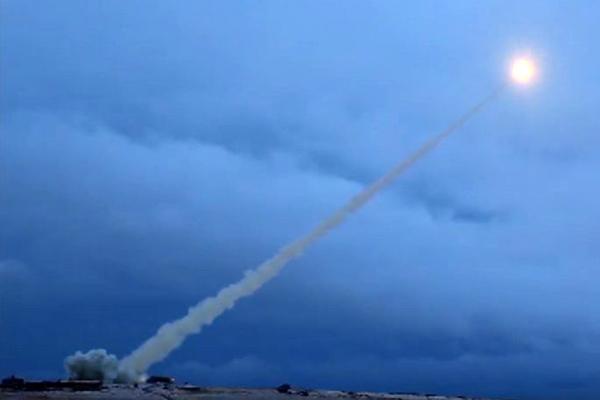 Запуск ракеты «Буревестник»