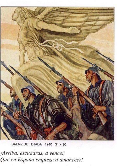 Гражданская война в Испании. Франкисты - история в фотографиях Маршируют Девушки