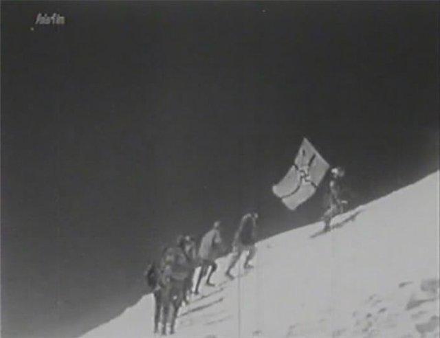Свастика на Эльбрусе, горные егеря, эдельвейс