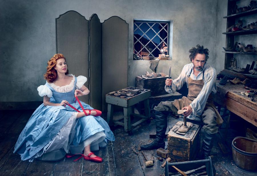 Amy Adams & Tim Burton by Annie Leibovitz