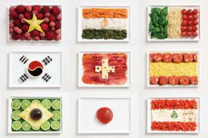 флаги из еды