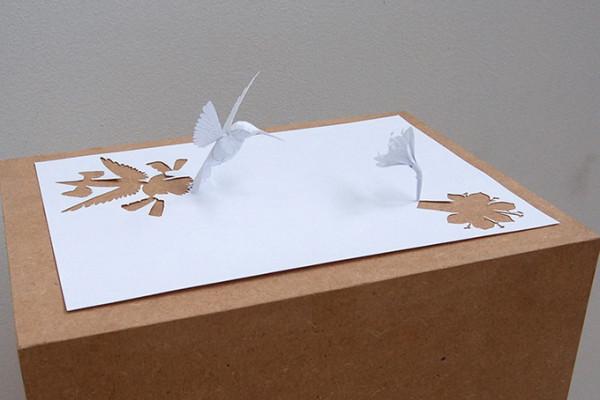 Животные из белой бумаги