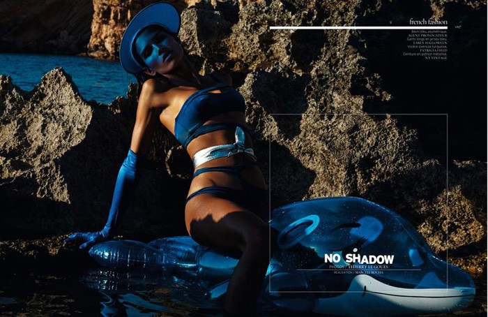 "Raica Oliveira Rocks Sexy In ""No Shadow"" By Thierry LeGoues For French Revue de Modes Spring 2015"