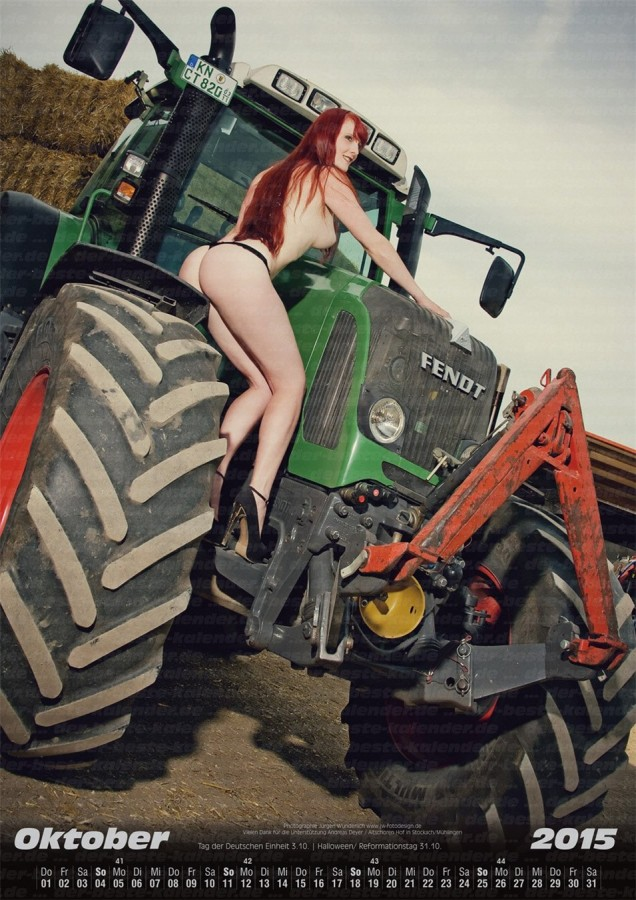 Land maschinen - Official Erotic Calendar 2015