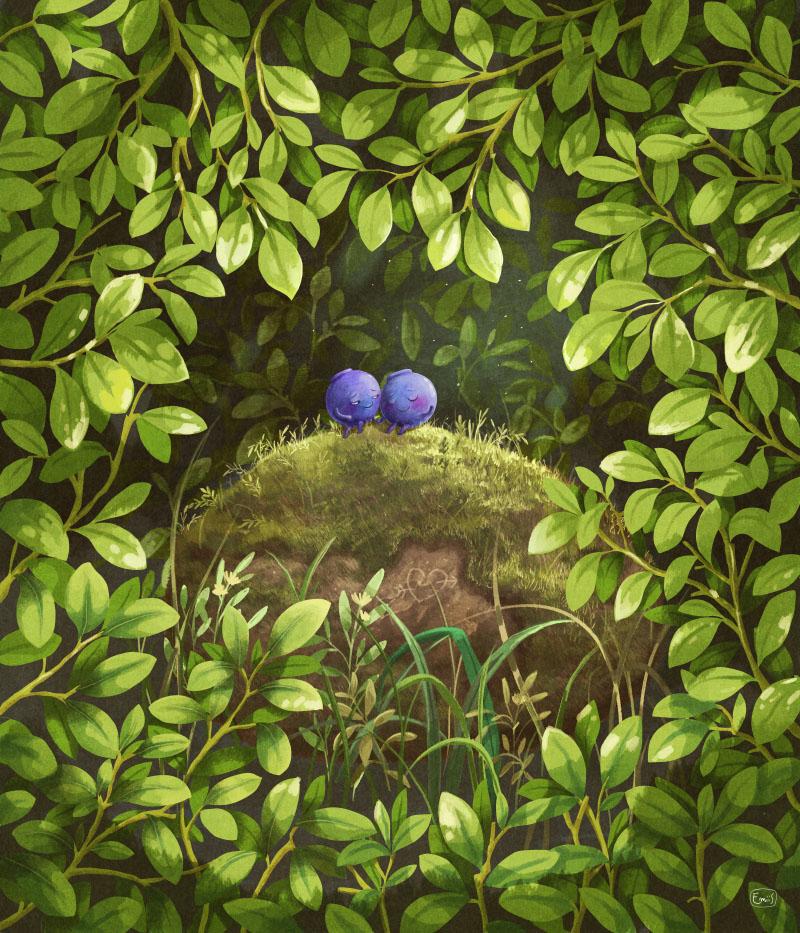 Blueberries рисунок Emilia Dziubak
