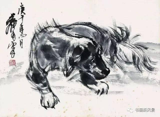 Рисованные собаки Хуан Чжоу 黄胄