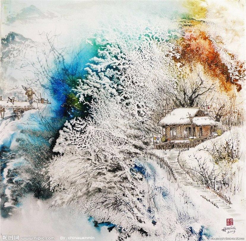 Китайская зима / художник Bai Haoran
