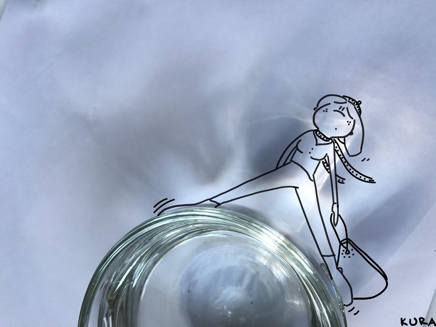 Рисунки с предметами / работы Miriola Dzik