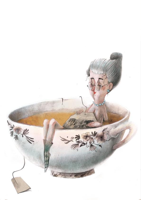 Teatime / рисунки Silvia Cancelmo