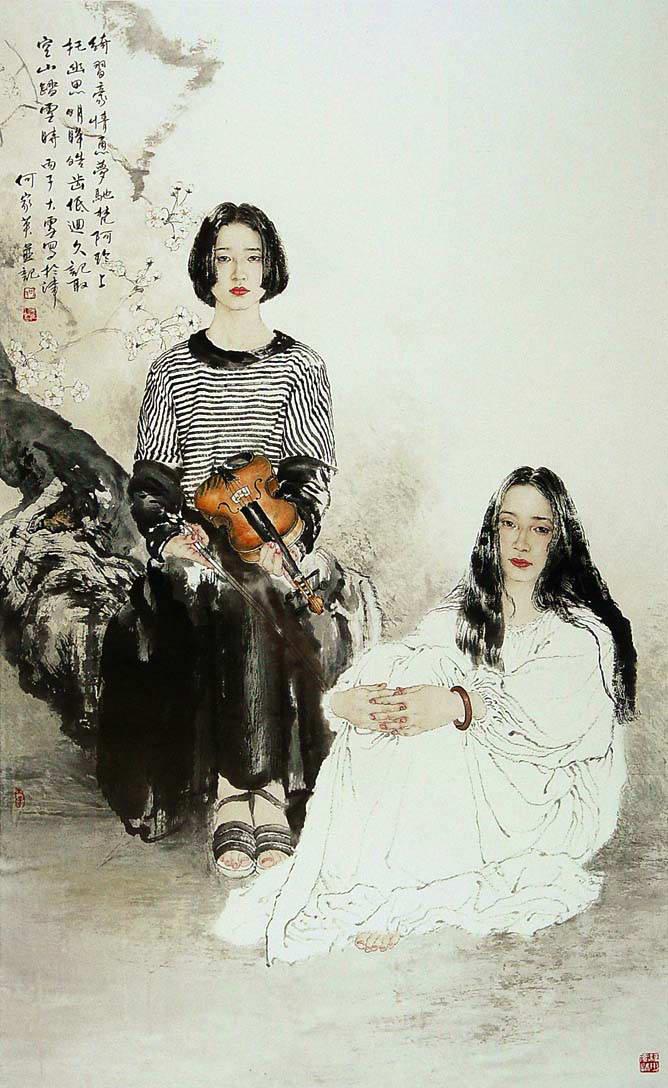 Картины He Jiaying