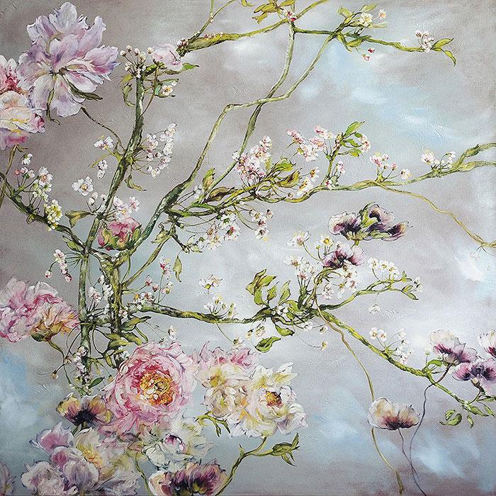 Цветы на картинах Claire Basler