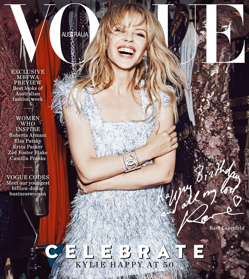 Kylie Minogue by Nicole Bentley for Vogue Australia May 2018