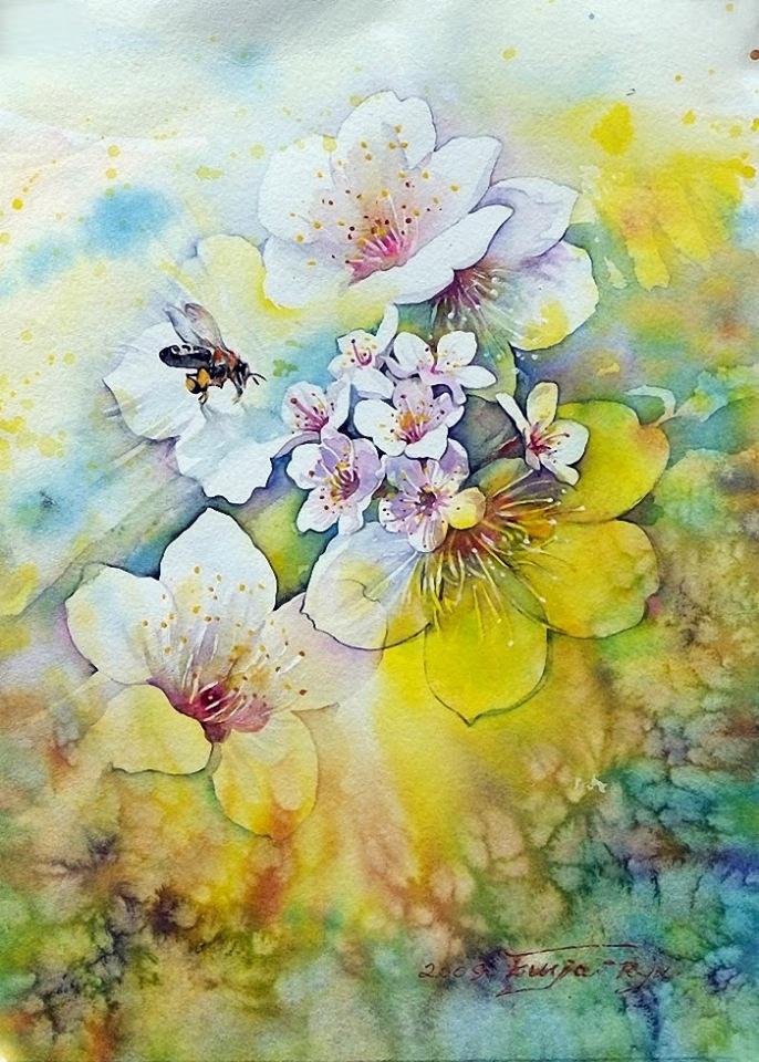 Картины корейского художника Ryu Eunja