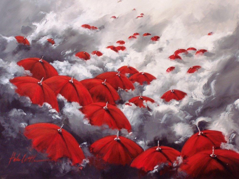 Красный зонтик / рисунки Helen Cottle