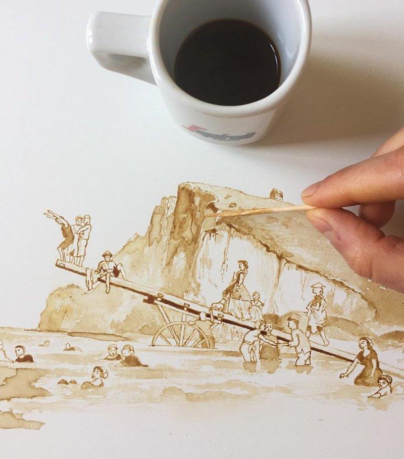 Рисунки из кофе / Джулия Бернарделли