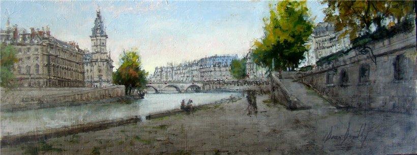 Париж на картинах Dean Bowlby