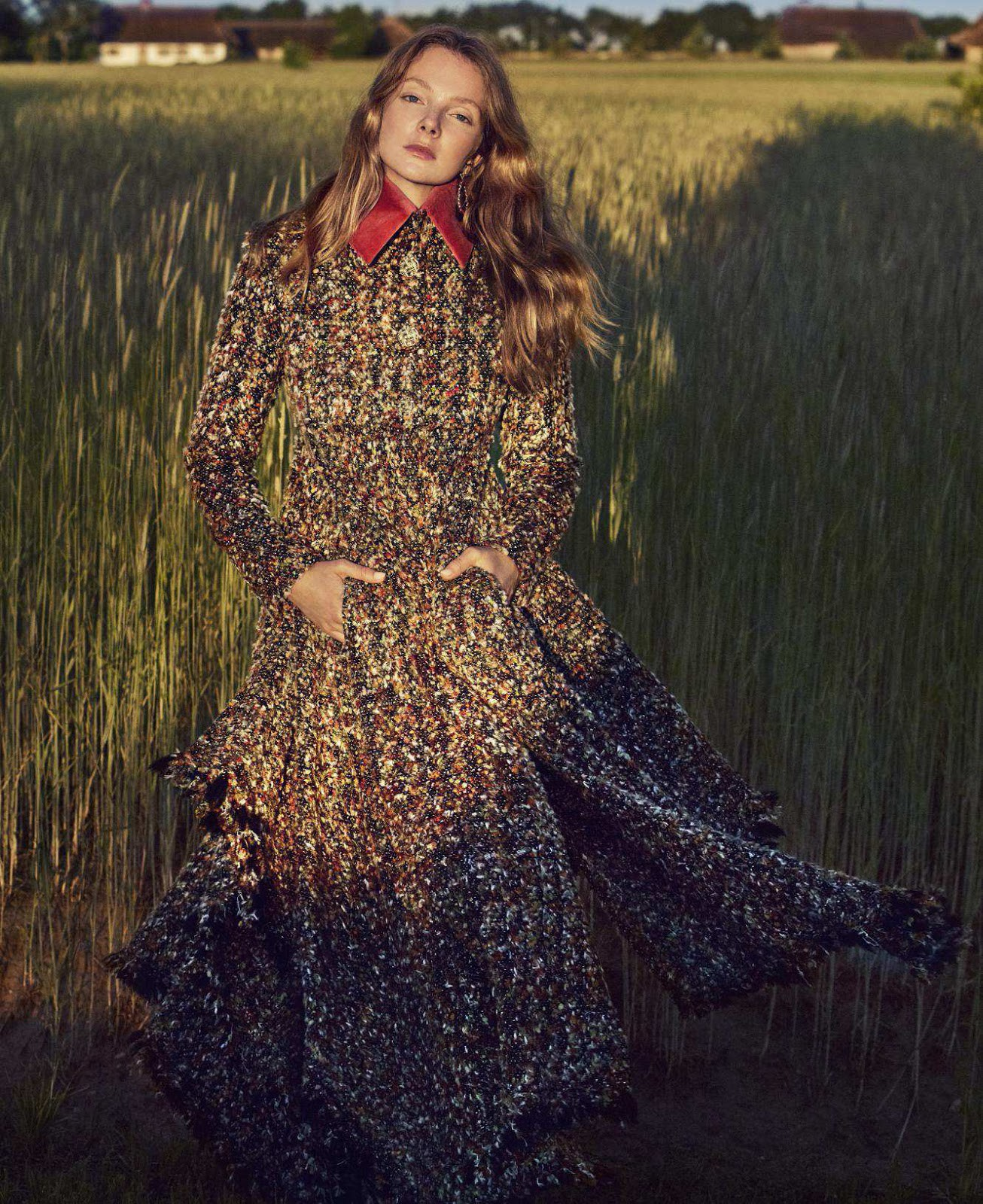 Eniko Mihalik in Harpers Bazaar US august 2018 by Marcin Tyszka