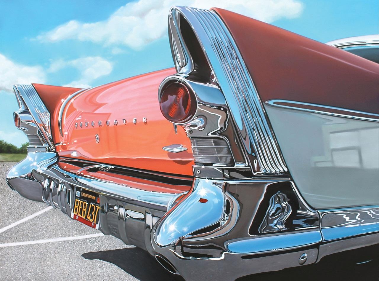 Старые авто художницы Cheryl Kelley