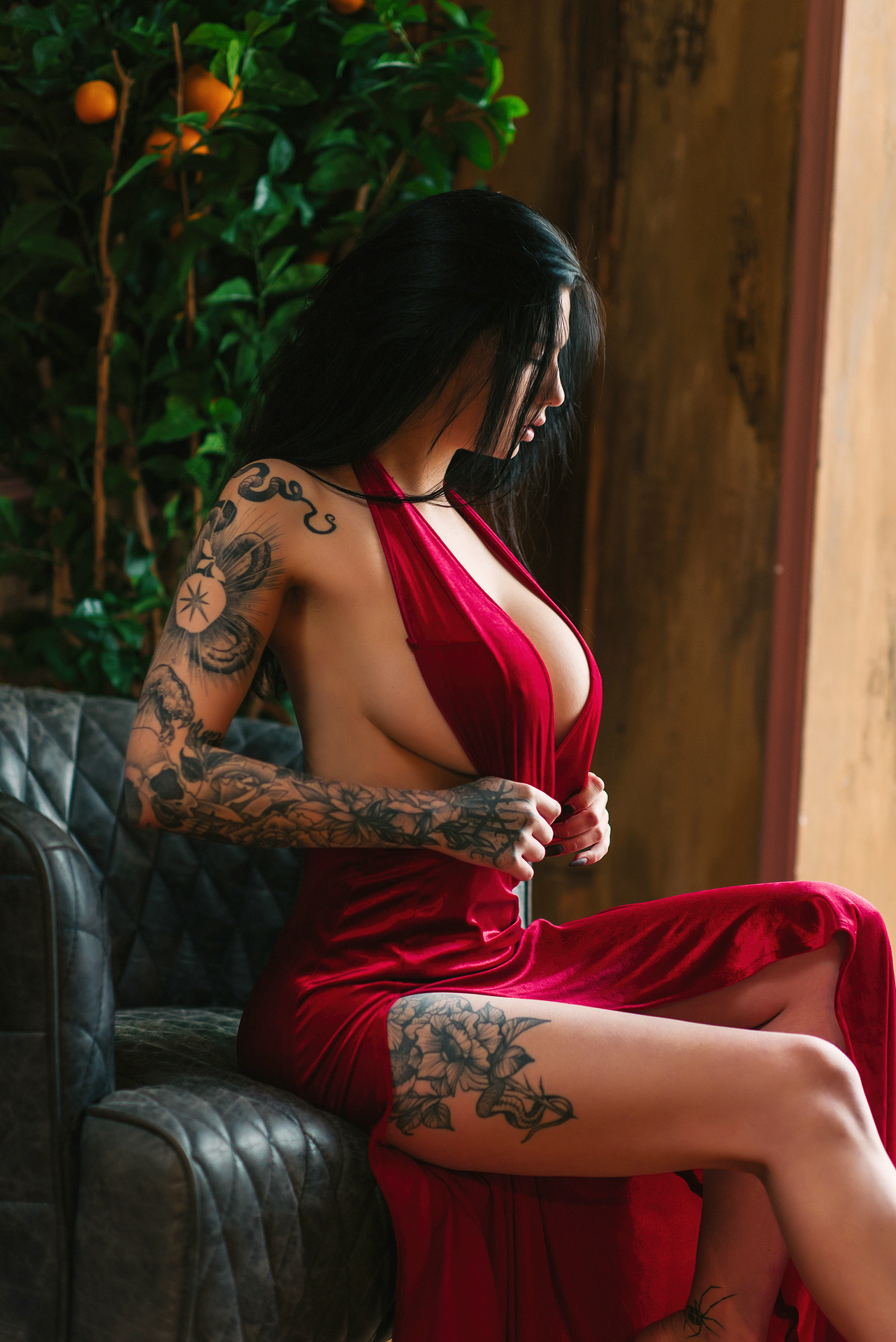 Red dress / фото Дмитрий Бугаенко модель Евгения Таланина