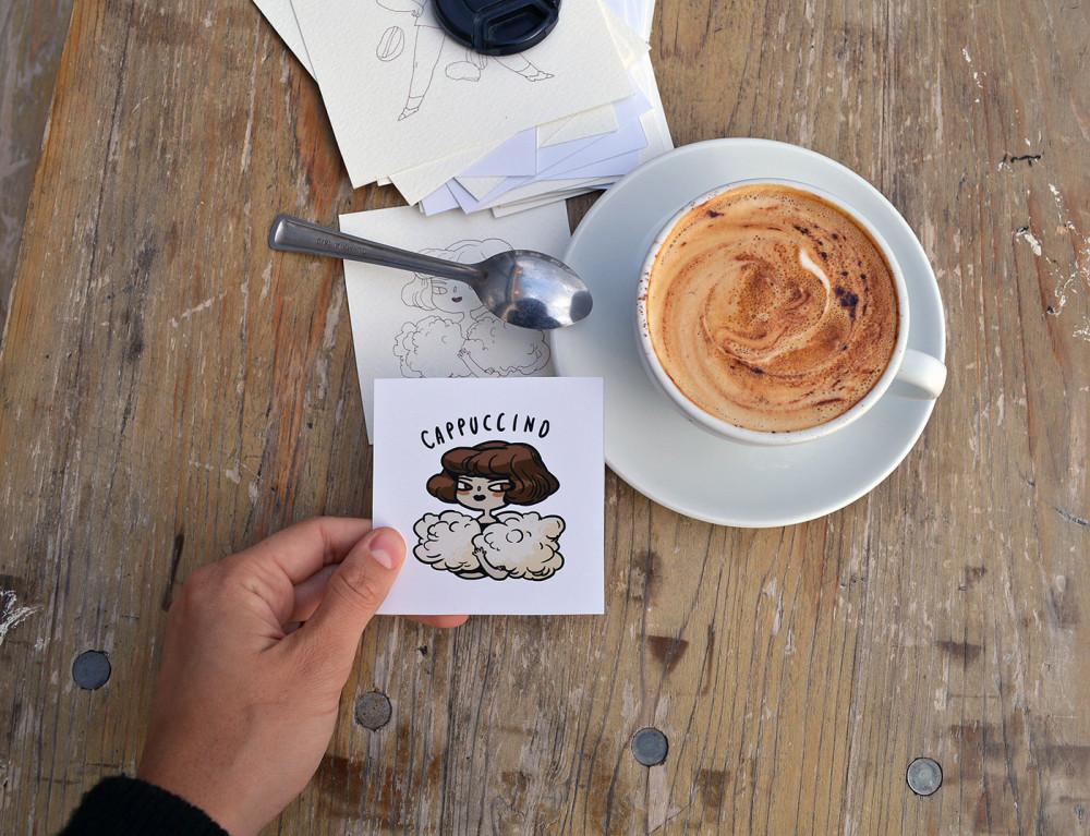 Coffee Characters / работа Marija Tiurina