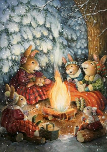 кроличьи иллюстрации Susan Wheeler