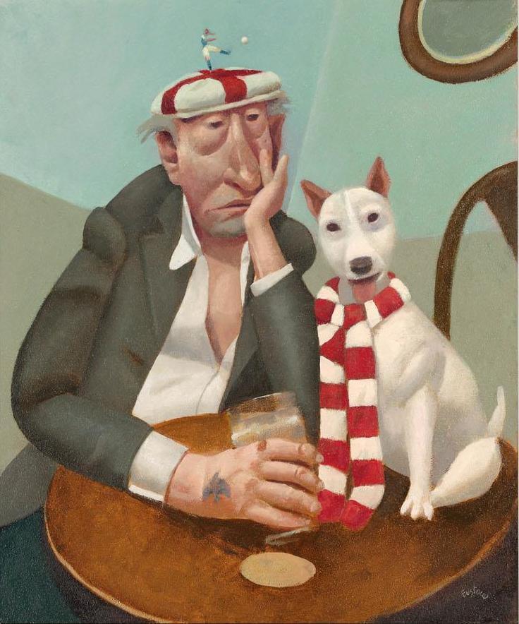 Мужчины с собакой