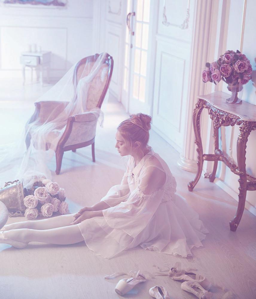 девушка в розовом