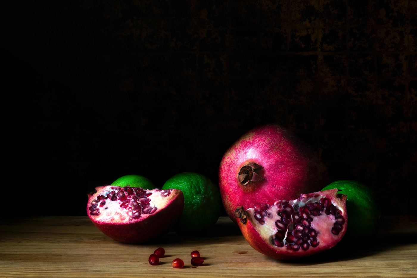 Lemons and pomegranates / фото S Plumauvent