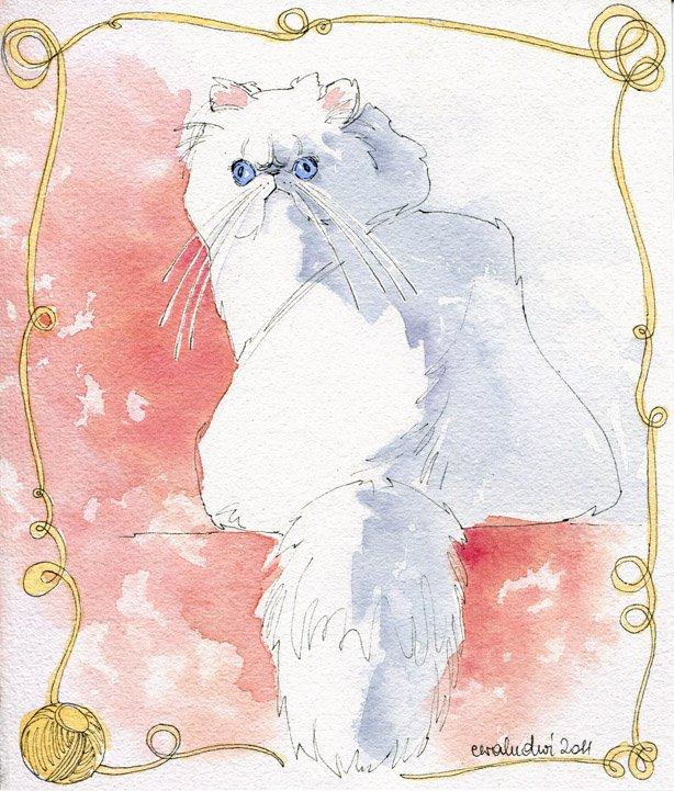 Акварельные котики Евы Людвичак