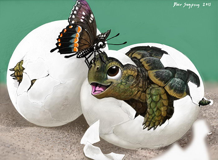 Цифровая живопись Blair Sampson