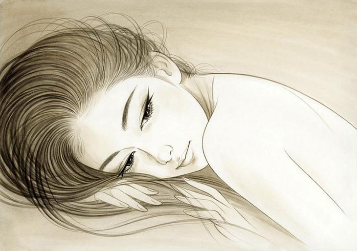 портреты девушек Ichiro Tsuruta