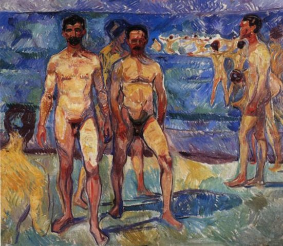 Э. Мунк. Купающиеся мужчины. 1907