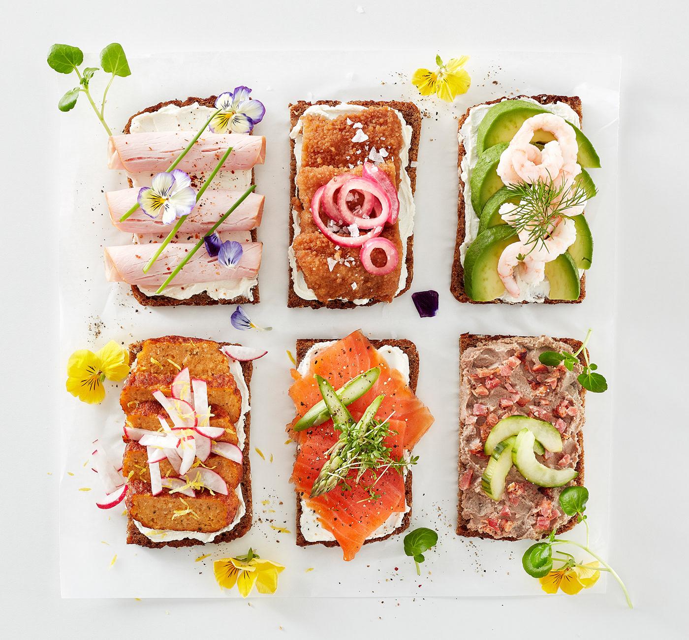 Nordic open sandwiches