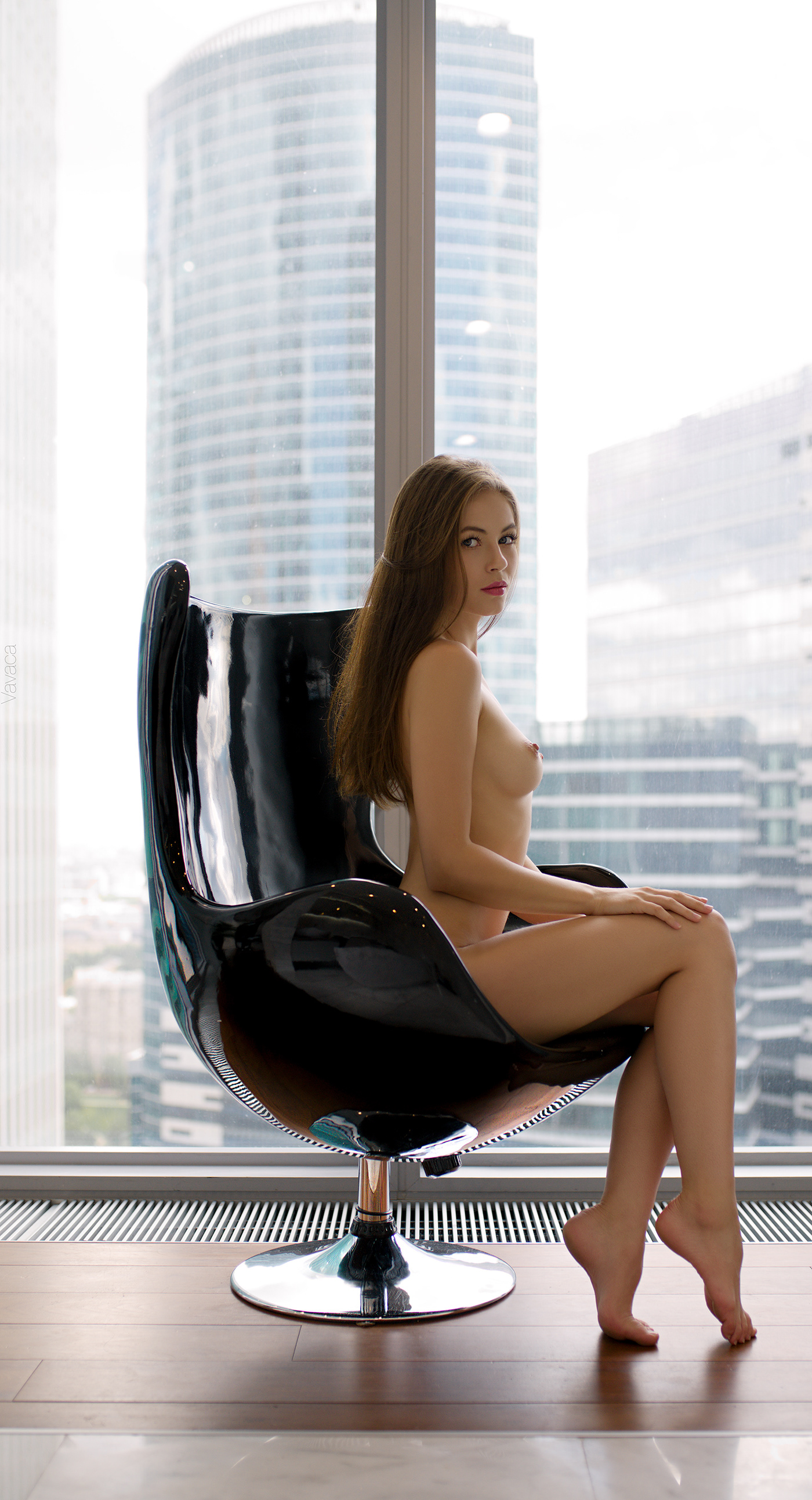 Black Chair * Model Viktoriia Aliko / фотограф Vladimir Nikolaev