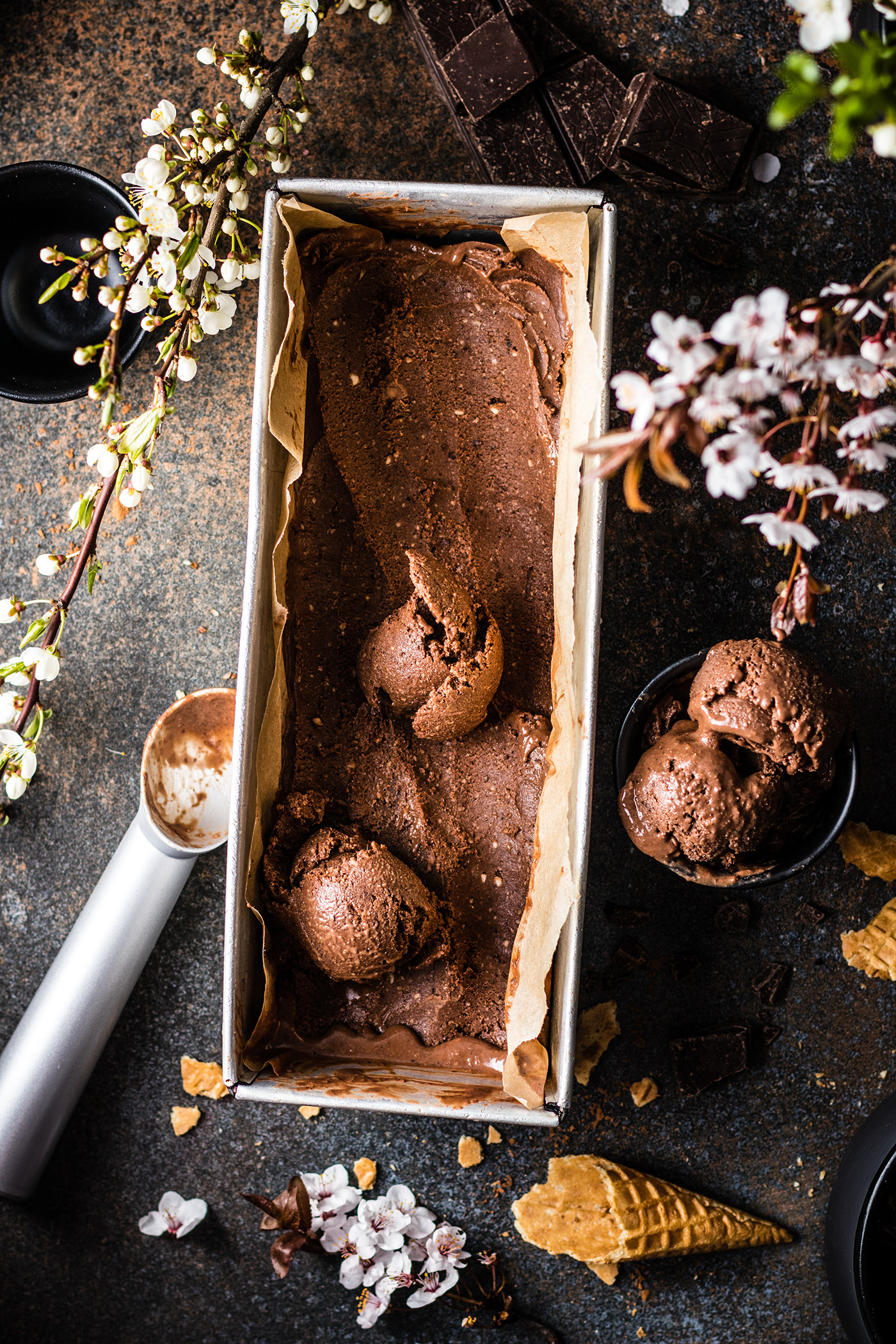 Chocalate and hazelnut ice cream / фотограф Amalija Andersone