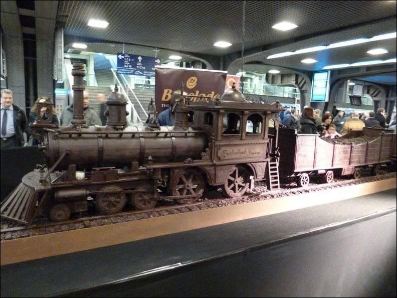 шоколадный поезд 1