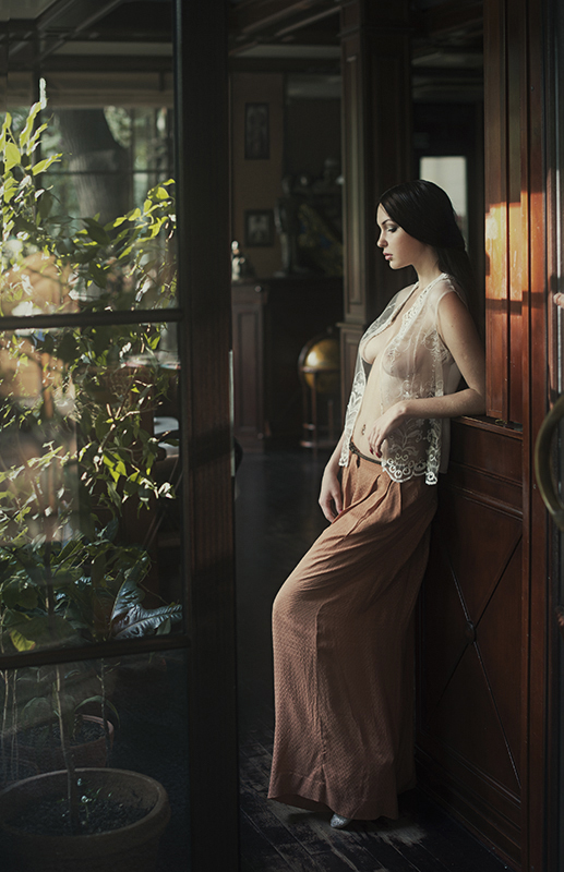 На даче / фотограф Давид Дубницкий