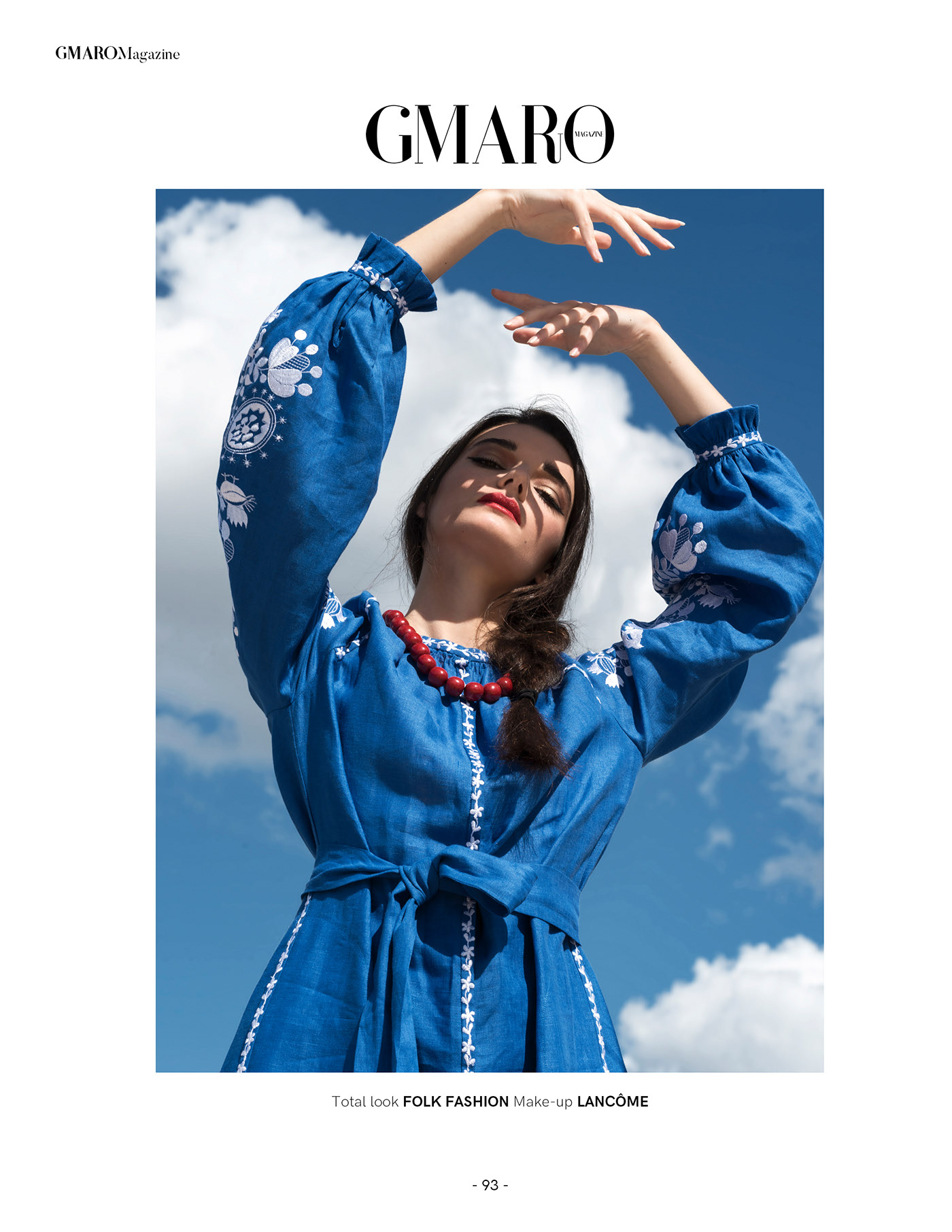Fashion Editorial ANNUSHKA in GMARO Magazine / фотограф Christina Valérie Henningstad