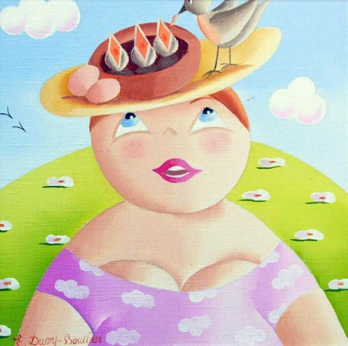 В наивном стиле / художник Elisabeth Davy-Bouttier