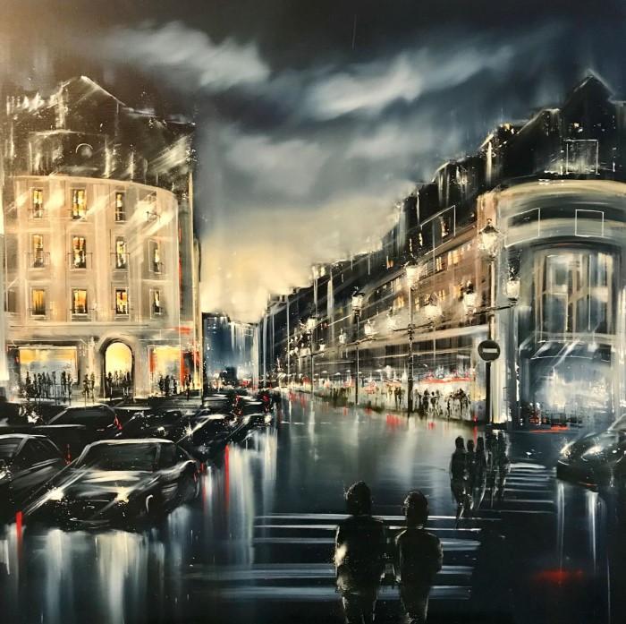 Ночной город Jerome Guillet