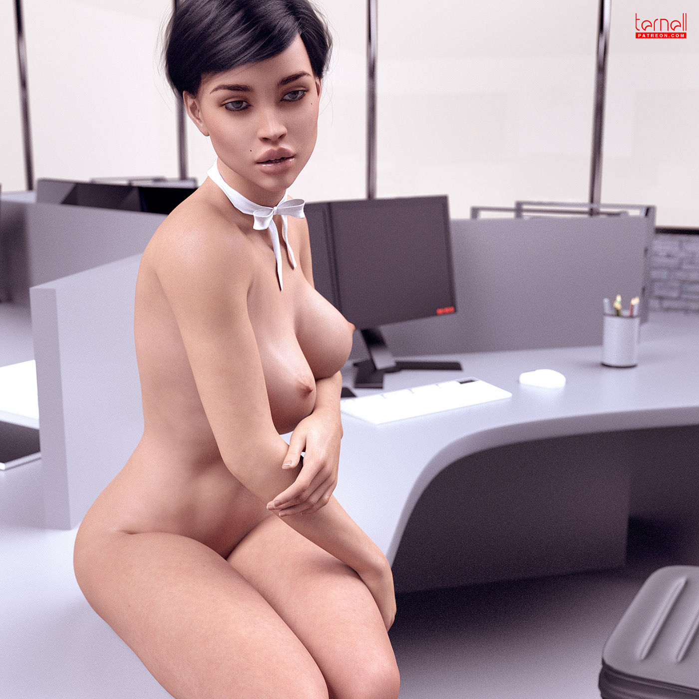 Alone in the office / фотограф Andrew TERNELL
