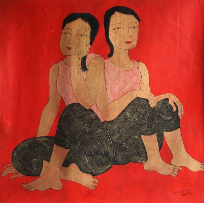 Красные женщины Min Zaw