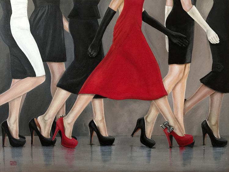 Красные туфли Jacqui Faye
