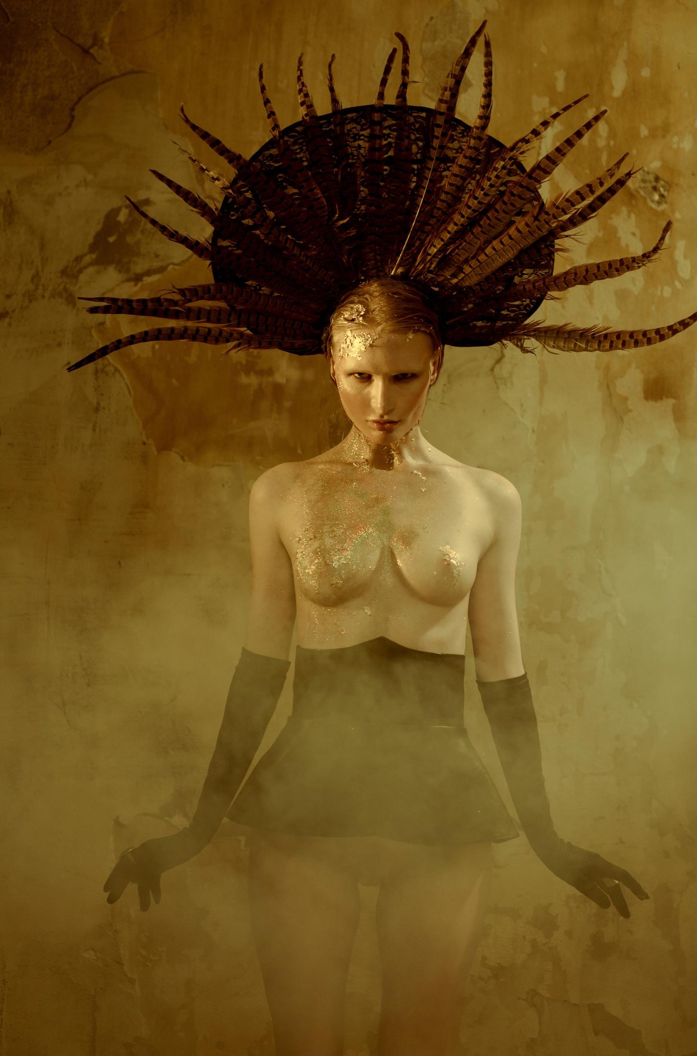 Anika White Luxury Gold by Alexandra Oblako