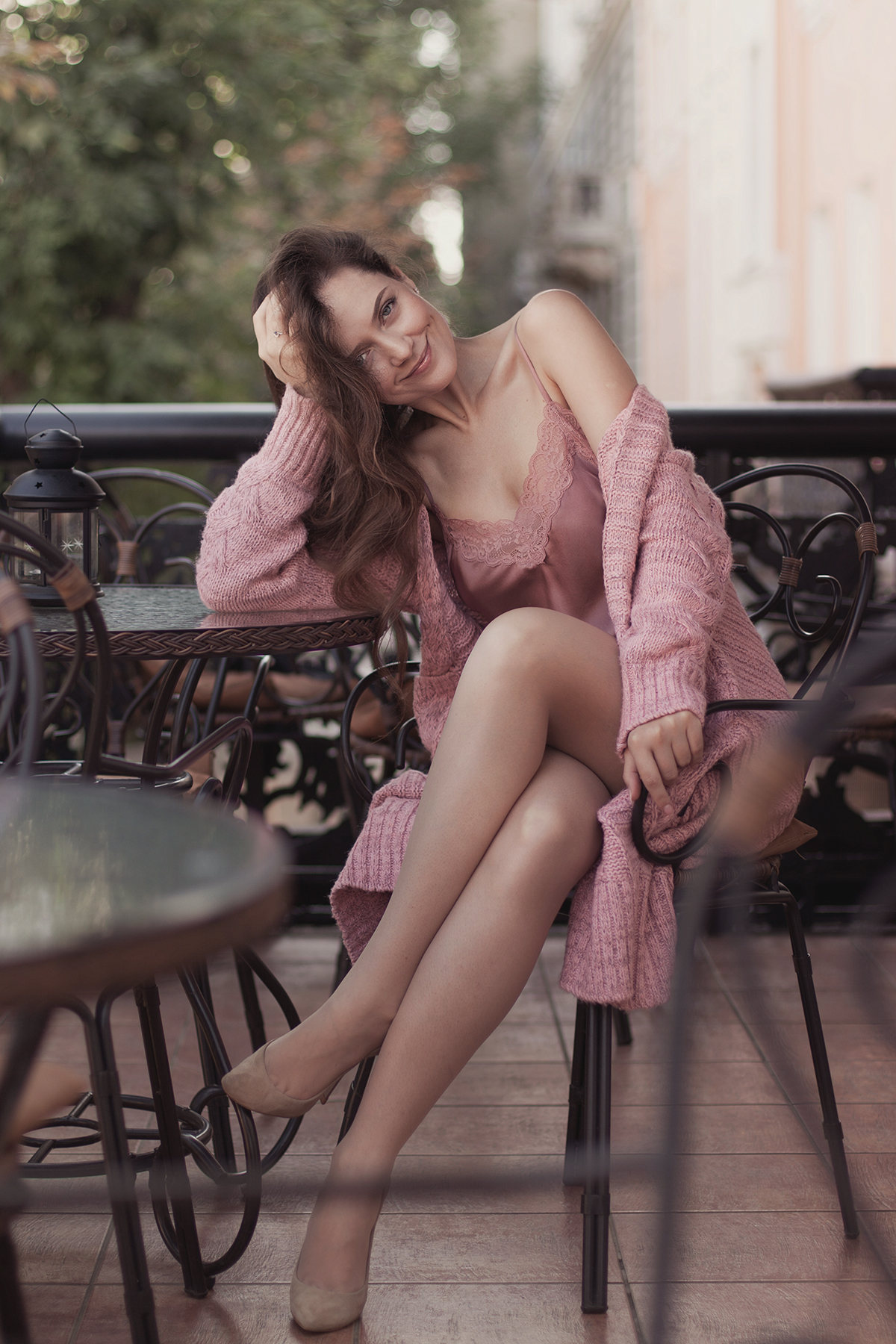 Розовая_кофточка