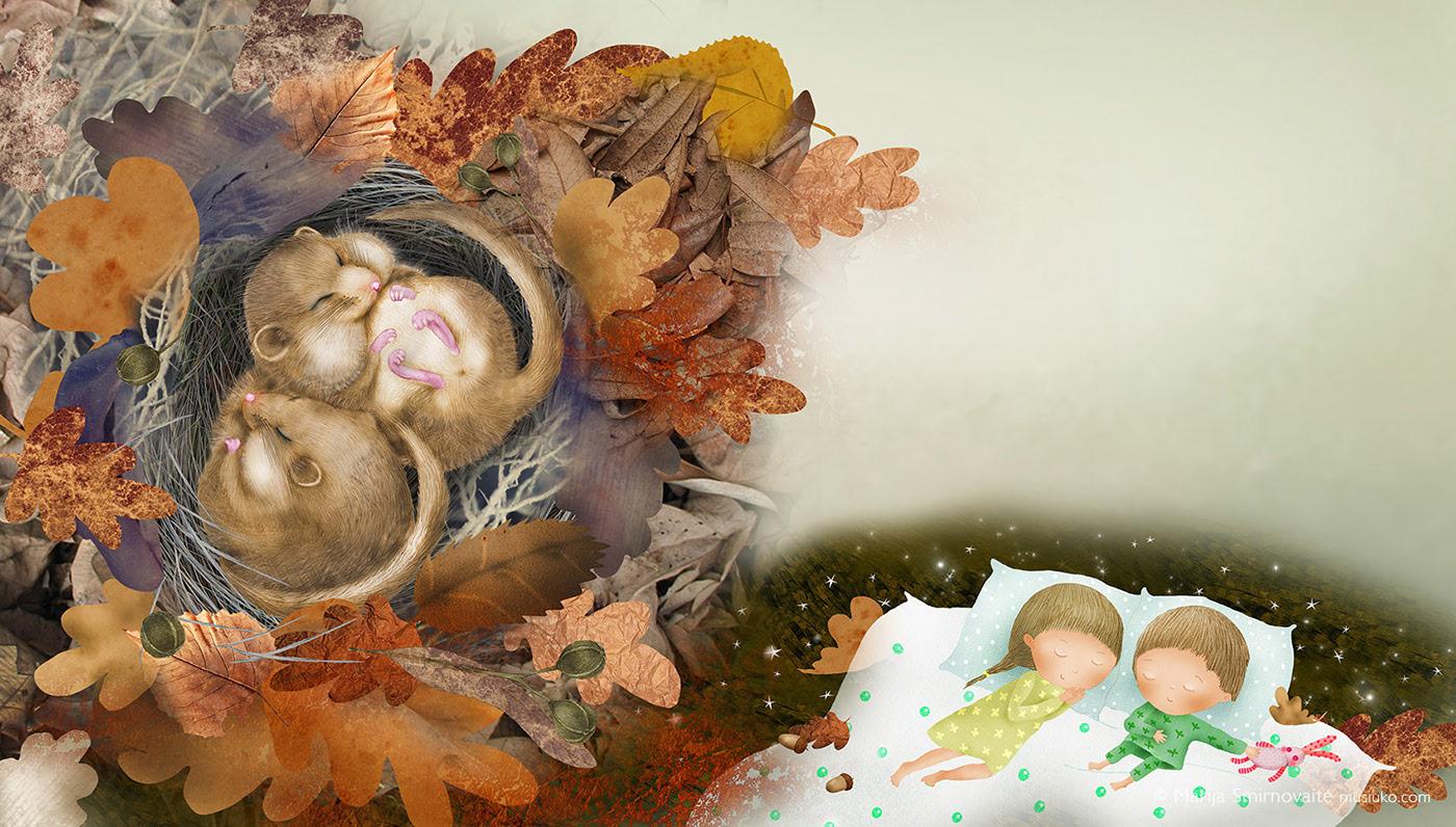 Kaip miega gyvūnai / рисунки Marija Smirnovaite